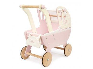 """Medinis lėlių vežimėlis """"Rožinis sapnas"""""""