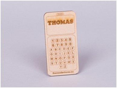 Medinis mobilusis telefonas - angliškas