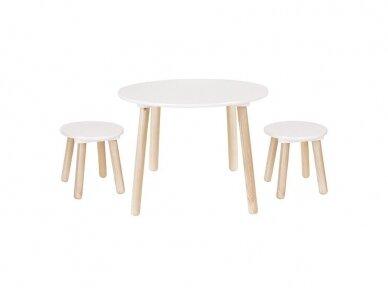 Medinis staliukas su kėdutėmis