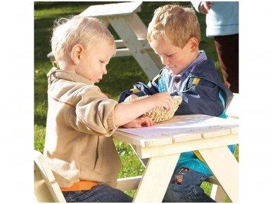 Medinis staliukas vaikams su atlošu 3
