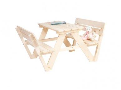Medinis staliukas vaikams su atlošu