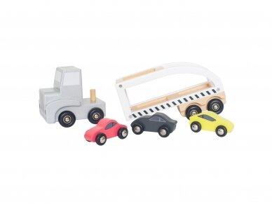 Medinis tralas su automobiliukais 2