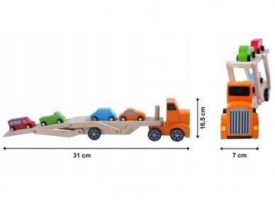 Medinis tralas su spalvotomis mašinėlėmis 7