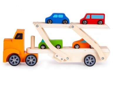 Medinis tralas su spalvotomis mašinėlėmis 2