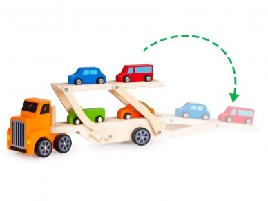 Medinis tralas su spalvotomis mašinėlėmis 5