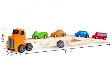 Medinis tralas su spalvotomis mašinėlėmis 6