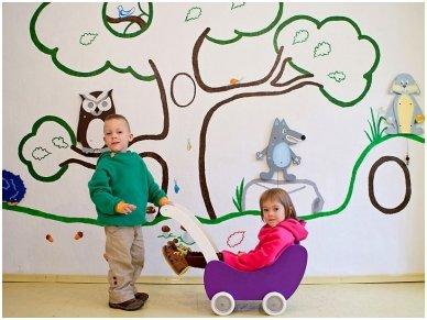 Medinis lėlių vežimėlis 17