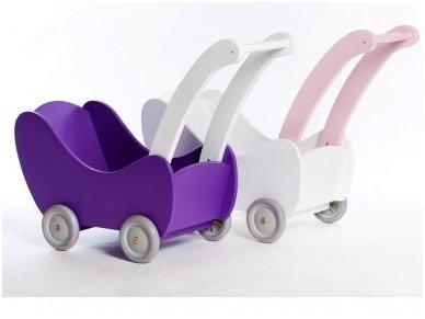 Medinis lėlių vežimėlis 2