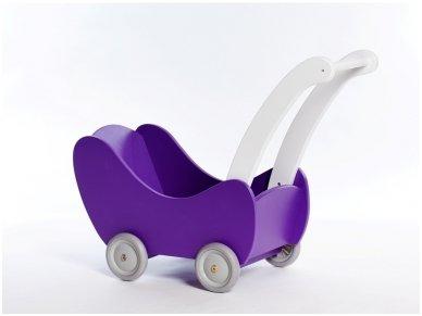Medinis lėlių vežimėlis 10