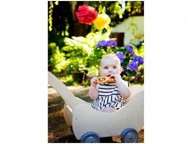 Medinis lėlių vežimėlis 14
