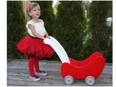 Medinis lėlių vežimėlis 4