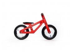 Raudonas balansinis dviratukas