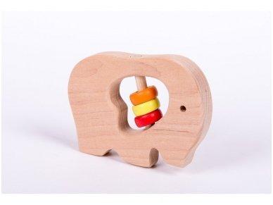 Barškutis-kramtukas drambliukas