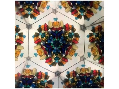 Rankų darbo kaleidoskopas ''Naktis'' 3