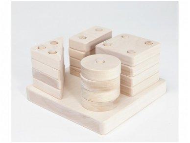 Figūrinės geometrinės kaladėlės mažos 3