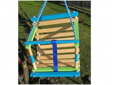 Wooden swing for baby 8