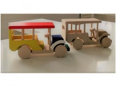 Safari medinė mašina 2