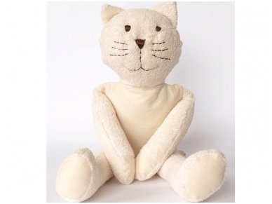 Šildantis žaislas baltasis katinas Čiobrelis 2