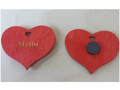 Širdelė-magnetukas 3