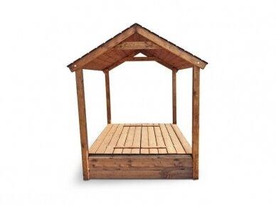 Smėlio dėžė su dvišlaičiu stogeliu 2