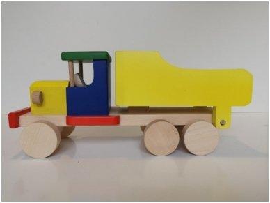 Spalvotas medinis sunkvežimis 2