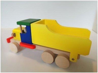 Spalvotas medinis sunkvežimis 3