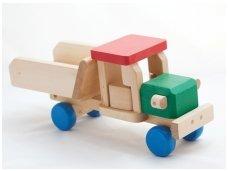 Wooden tipper lorry