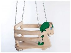 "Wooden swing ""Green horse"""