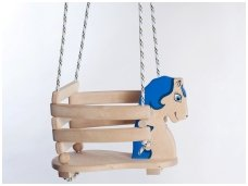 "Wooden swing ""Blue Horse"""