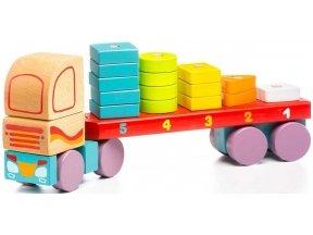 Sunkvežimis su geometrinėmis figūromis
