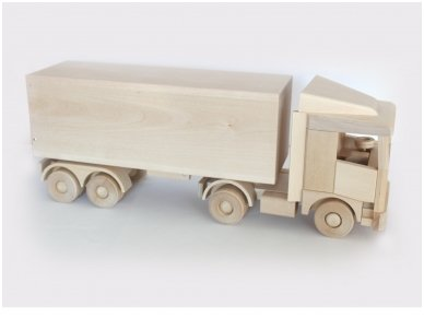 Large truck with trailer