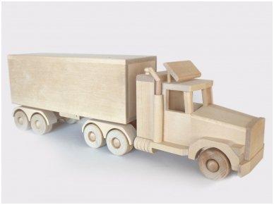 Didelis sunkvežimis-furgonas