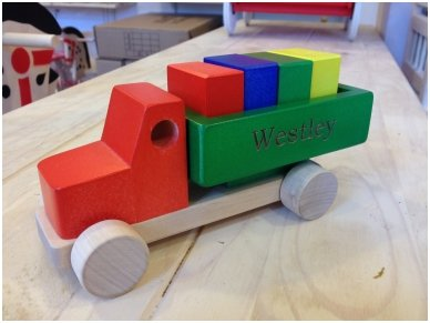 Truck with blocks 15