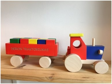 Tractor with blocks 8