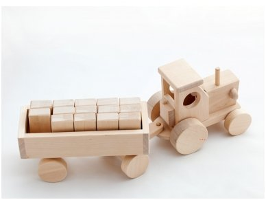 Tractor with blocks 3