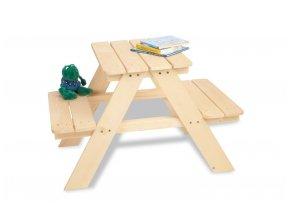 Vaikiškas pikniko staliukas su suoliukais MINI