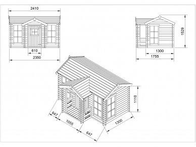 Vaikiškas medinis namelis 2