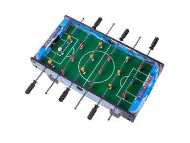 Vaikiškas mėlynas stalo futbolas
