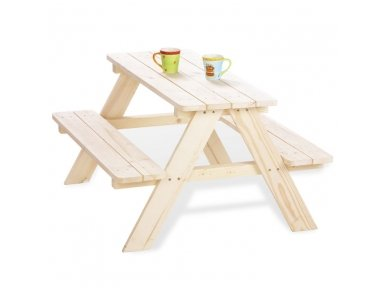Vaikiškas pikniko staliukas su suoliukais