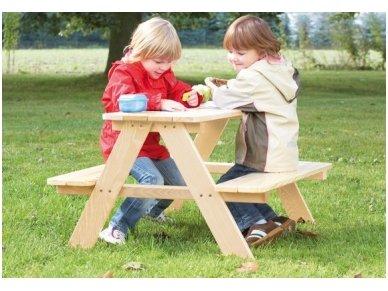 Vaikiškas pikniko staliukas su suoliukais MINI 2