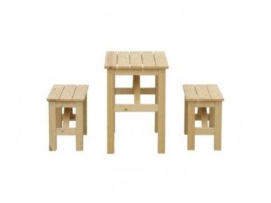 Vaikiškas staliukas su suoliukais 2