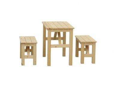 Vaikiškas staliukas su suoliukais