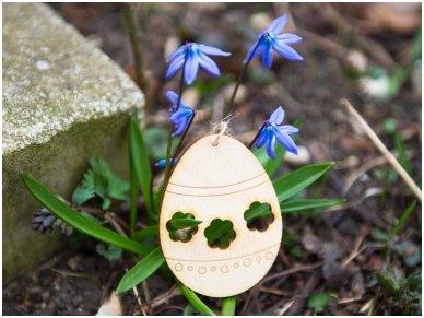 Wooden Easter egg ornament 3
