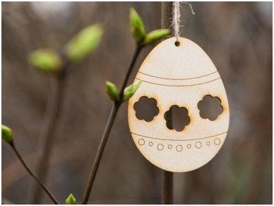 Wooden Easter egg ornament 2