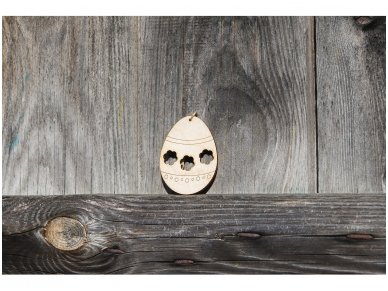 Wooden Easter egg ornament 4