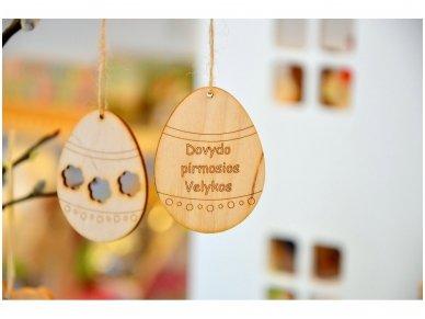 Wooden Easter egg ornament 7