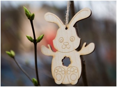 Easter bunny ornament 4