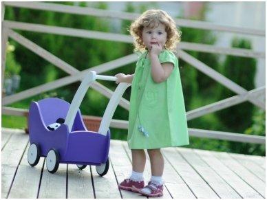 Medinis lėlių vežimėlis 7