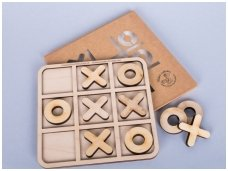 "Wooden ""Tic tac toe"" game"