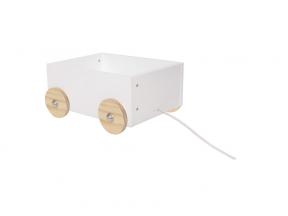 Žaislų dėžė su ratukais